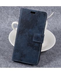Vintage Bookcase voor uw Samsung Galaxy Xcover 4/4s Blauw