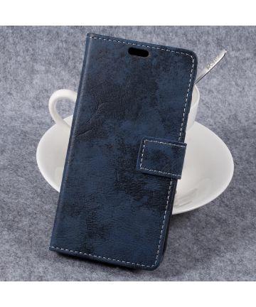 Vintage Bookcase voor uw Samsung Galaxy Xcover 4/4s Blauw Hoesjes