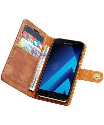 Samsung Galaxy A3 (2017) Echt Leren Portemonnee Hoesje Bruin
