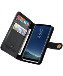 Samsung Galaxy S8 Echt Leren Portemonnee Hoesje Zwart