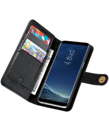 Samsung Galaxy S8 Plus Echt Leren Portemonnee Hoesje Zwart Hoesjes