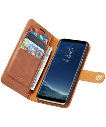 Samsung Galaxy S8 Plus Echt Leren Portemonnee Hoesje Bruin