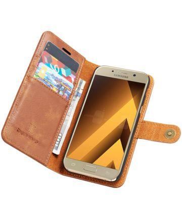 Samsung Galaxy A5 (2017) Echt Leren Portemonnee Hoesje Bruin