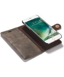 Apple iPhone SE (2020) Portemonnee Hoesje Echt Leer Coffee