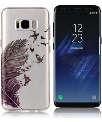 Samsung Galaxy S8 Plus TPU Back Cover Feathers