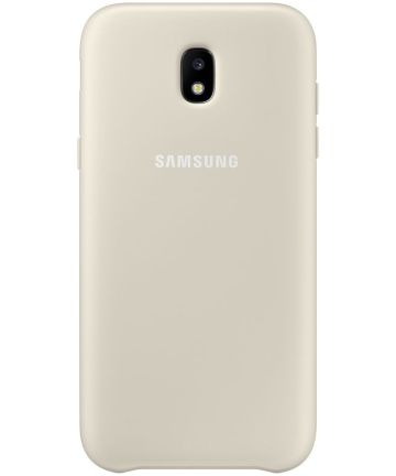 Samsung Dual Layer Cover Galaxy J3 (2017) Goud Hoesjes
