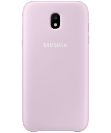 Samsung Dual Layer Cover Galaxy J7 (2017) Roze Hoesjes