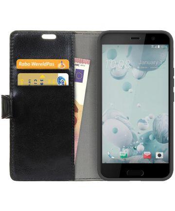HTC U11 Portemonnee Hoesje Zwart