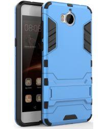 Huawei Y6 (2017) Hybride Kickstand Cover Blauw