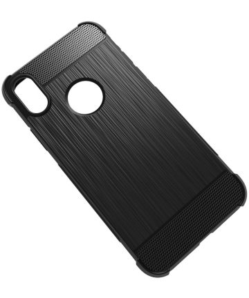 Apple iPhone X Zwart Hoesje Backcover TPU