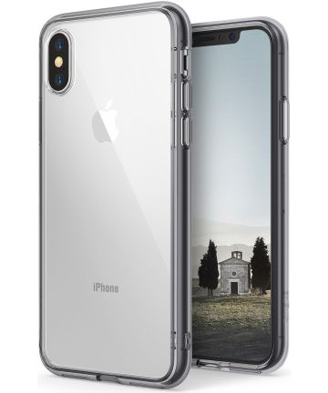 Ringke Fusion iPhone X Hoesje Doorzichtig Smoke Black
