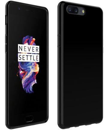 OnePlus 5 TPU Back Cover Hoesje Zwart Hoesjes