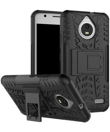 Robuuste Hybride Hoesje Motorola Moto E4 Zwart Hoesjes