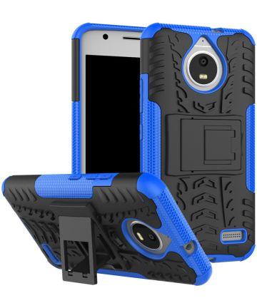 Robuuste Hybride Hoesje Motorola Moto E4 Blauw Hoesjes
