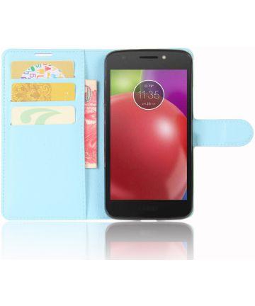 Motorola Moto E4 Portemonnee Hoesje Blauw