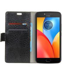 Motorola Moto E4 Plus Portemonnee Hoesje Zwart