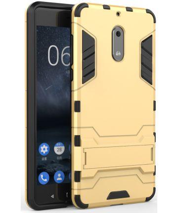Hybride Nokia 6 Hoesje Goud