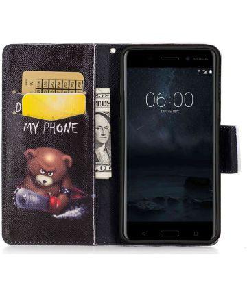 Nokia 3 Portemonnee Hoesje Print Teddy