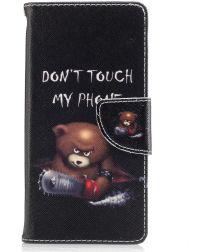 Sony Xperia XA1 Portemonnee Hoesje met Print Teddy