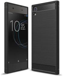 Sony Xperia XA1 Ultra Geborsteld TPU Hoesje Zwart