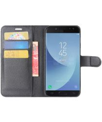 Samsung Galaxy J5 (2017) Portemonnee Hoesje met Standaard Zwart