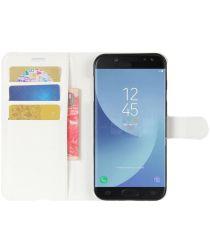Samsung Galaxy J5 (2017) Portemonnee Hoesje met Standaard Wit