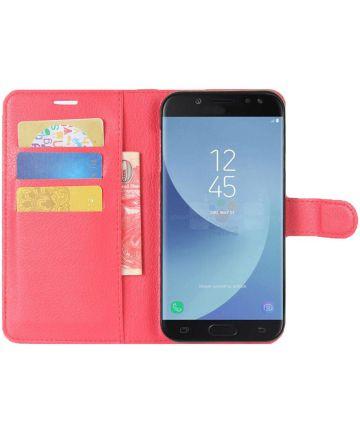 Samsung Galaxy J5 (2017) Portemonnee Hoesje met Standaard Rood