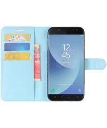 Samsung Galaxy J5 (2017) Portemonnee Hoesje met Standaard Blauw