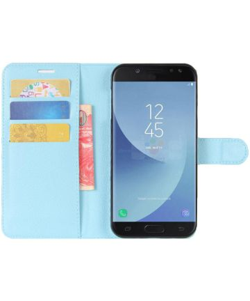 Samsung Galaxy J5 (2017) Portemonnee Hoesje met Standaard Blauw Hoesjes