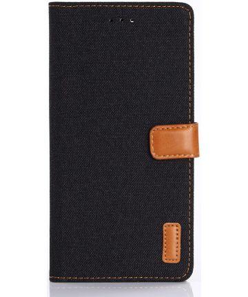 Sony Xperia XZ Premium Luxe Portemonnee Hoesje Zwart