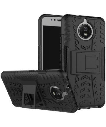 Hybride Motorola Moto G5S Back Cover Zwart