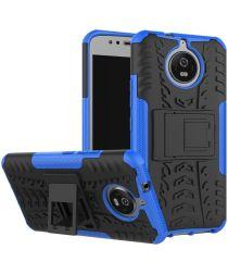 Hybride Motorola Moto G5S Back Cover Blauw