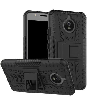 Hybride Motorola Moto E4 Plus Hoesje Zwart Hoesjes