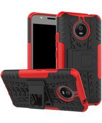 Hybride Motorola Moto E4 Plus Hoesje Rood