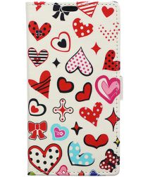 Samsung Galaxy J3 (2017) Print Portemonnee Hoesje Hearts