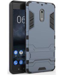 Hybride Nokia 6 Hoesje Donker Blauw