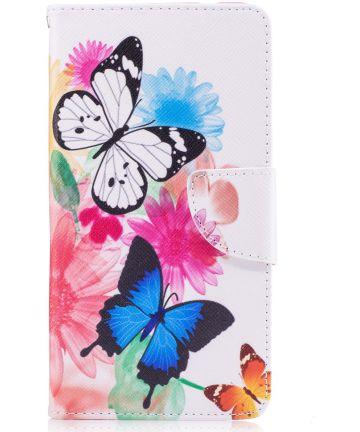 Nokia 5 Portemonnee Flip Hoesje Print Butterflies