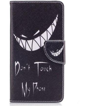 Nokia 5 Portemonnee Flip Hoesje Print Don't Touch My Phone Hoesjes