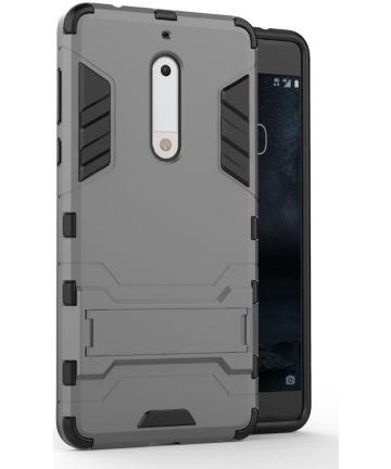 Hybride Nokia 5 Hoesje Grijs