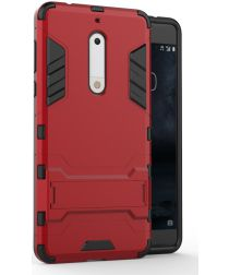 Hybride Nokia 5 Hoesje Rood