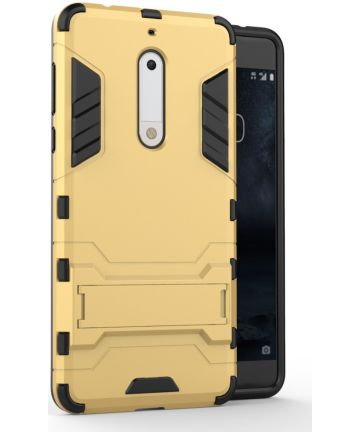 Hybride Nokia 5 Hoesje Goud