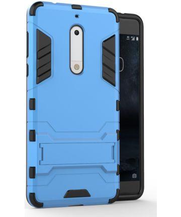 Hybride Nokia 5 Hoesje Blauw Hoesjes