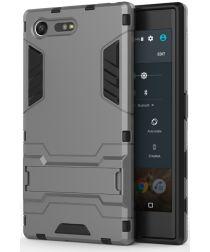 Hybride Sony Xperia X Compact Hoesje met Standaard Grijs