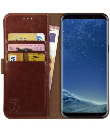 Rosso Element Samsung Galaxy S8 Hoesje Book Cover Bruin Hoesjes