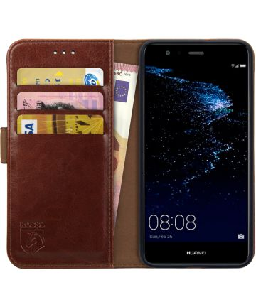 Rosso Element Huawei P10 Lite Hoesje Book Cover Bruin