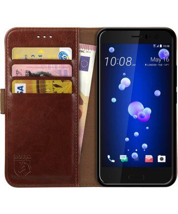 Rosso Element HTC U11 Hoesje Book Cover Bruin