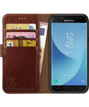 Rosso Element Samsung Galaxy J3 2017 Hoesje Book Cover Bruin