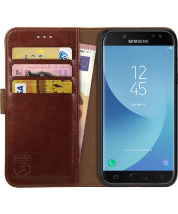 Rosso Element Samsung Galaxy J7 2017 Hoesje Book Cover Bruin