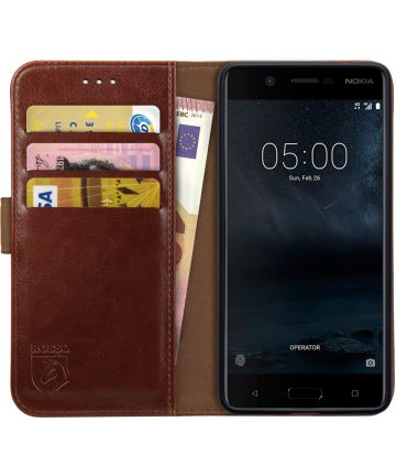 Rosso Element Nokia 5 Hoesje Book Cover Bruin