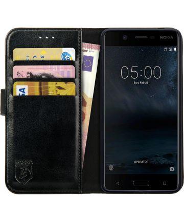 Rosso Element Nokia 5 Hoesje Book Cover Zwart